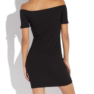 H&M OFF SHOULDER BODYCON DRESS- SMALL